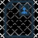 Cv Icon Vector Icon