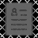 Cv Resume Curriculum Icon