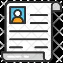 Cv Vitae Resume Icon