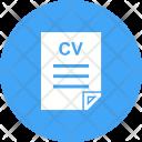 Cv File Resume Icon