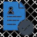 Cv Resume Document Icon