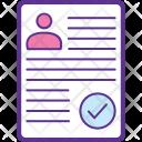 Job Hiring Resume Icon