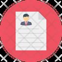 Cv Resume Recruitment Icon