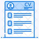 Cv Profile Resume Icon