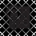 Cv Human Resource Resume Icon