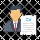 Cv Resume Hiring Icon