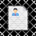 Cv Resume Profile Document Icon