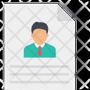 Cv Resume Job Portfolio Icon