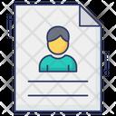 Cv Resume File Icon
