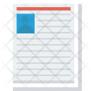 Cv Document Personal Icon