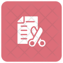 Cv File Cut Icon