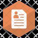 Cv Document File Icon
