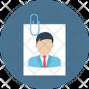 Cv Attachment Paperclip Job Profile Icon
