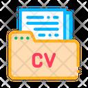 Folder Curriculum Vitae Icon