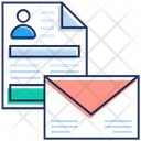Open Mail Cv Opened Envelope Icon