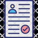 Cv Selection Job Hiring Professional Cv Icon