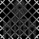 Cyber Attack Spider Web Spyware Icon