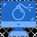 Cyber Attack Cyber Bomb Ddos Icon