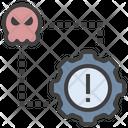 Cyber Attack Error System Error System Icon