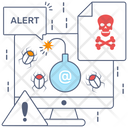 Cyber Bomb Cyber Attack Danger Icon