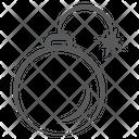 Cyber Bomb Explosive Bomb Cyber Attack Icon