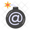 Cyber Attack Cyber Bomb Cyber Explosive Icon