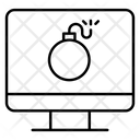 Cyber Bomb Computer Bomb Cyberattack Icon