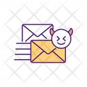 Cyber Bullying Via Emails Icon