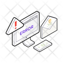 Cybercrime Cyber Fraud Web Error Icon