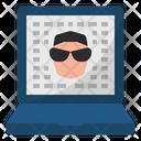 Cybercrime Tradewar Hacker Icon