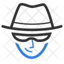 Cyber Criminal Thief Black Hat Icon