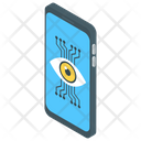 Cyber Eye Remote Monitoring Mechanical Eye Icon