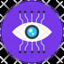 Mechanical Eye Cyber Eye Cybersecurity Cyber Monitoring Icon