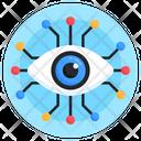 Network Eye Cyber Eye Digital Eye Icon