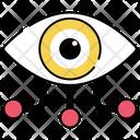 Eye Network Eye Connection Optics Icon