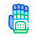 Cyber Hand Artificial Icon