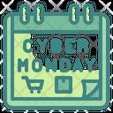 Cyber Moday Calendar Cyber Icon