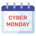 Cyber Monday Black Friday Sale Event Icon