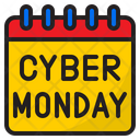 Cyber Monday Calendar Day Icon