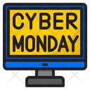 Cyber Monday Computer Shopping Icon