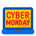 Cyber Monday Laptop Shopping Icon