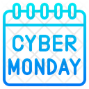 Cyber Monday Calendar Discount Icon