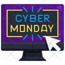 Cyber Monday Discount Shopping Icon