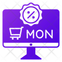 Cyber Monday Shopping Discount Icon