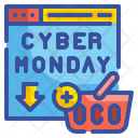 Cyber Monday Cart Icon