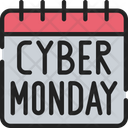 Cyber Monday Date Calendar Sales Icon