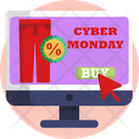 Cyber Monday Sale Discount Icon