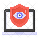 Secure Monitoring Cyber Monitoring Laptop Monitoring Protection Icon