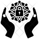 Cyber Network Cyber Security Hacking Protection Icon