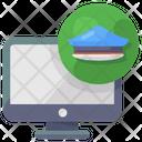 Cyber Police Cyber Crime Anticrime Icon